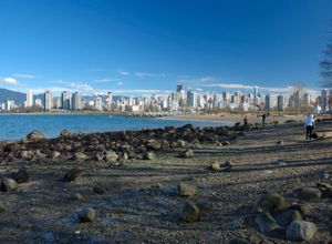 Downtown Vancouver from Kitsilano Beach