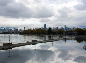 Downtown Vancouver from Kits Pool